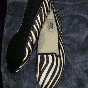 UGG Alloway Exotic Zebra Flat Shoes